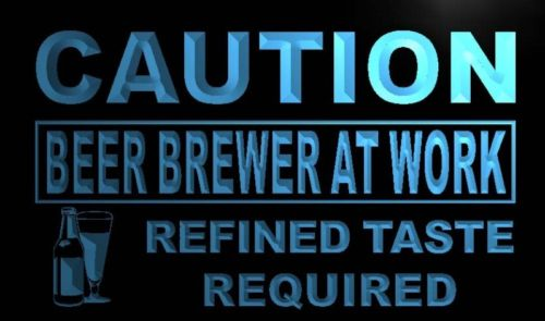 Caution Beer Brewer at Work Neon Light Sign